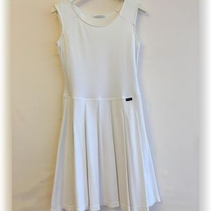Calvin Klein White Cotton Tennis Dress